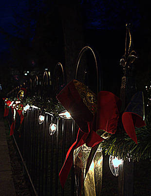 Photograph -  Holiday Lights At Hopkins Green by Cathy Shiflett