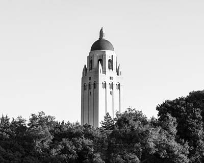 Stanford Photograph -  Hoover Tower Stanford University In Black And White by Priya Ghose