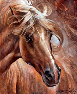 Horse Head Painting -  Horse Head 3 by Arthur Braginsky