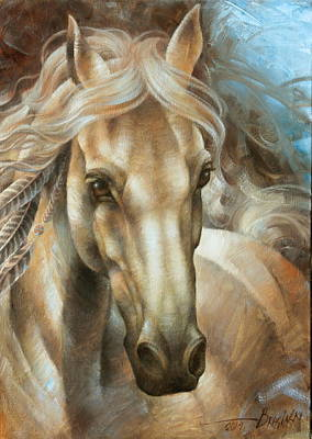 Horse Head Painting -  Horse Head Version     by Arthur Braginsky