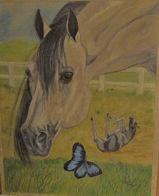 Painting -  Horse  Play by Patricia Olson