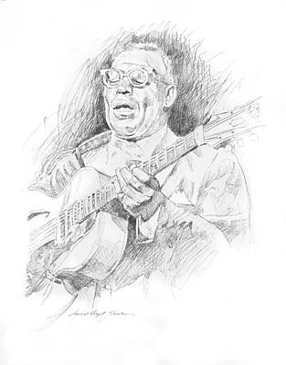 Famous Musician Drawing -  Howlin' Wolf by David Lloyd Glover