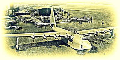 Spruce Goose Photograph -  Hughes H-4 Hercules by Hank Clark