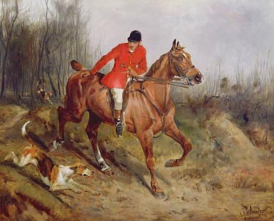 Hunting Scene Art Print by John Alfred  Wheeler