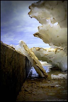 Cold Photograph -  Ice On The Ludington Light House Pier by LeeAnn McLaneGoetz McLaneGoetzStudioLLCcom