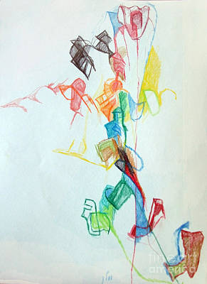 Creativity Drawing -  If You Follow Me For One You Will Not Lose 1 by David Baruch Wolk
