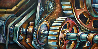 Pulley Painting - ' In Harmony ' by Michael Lang