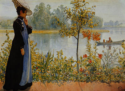 Nordic Painting -  Indian Summer by Carl Larsson