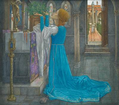 Literature Painting -  Isabella And The Pot Of Basil by Edward Reginald Frampton