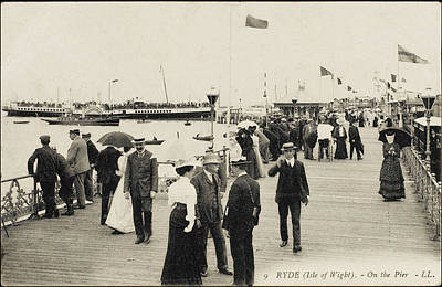 Isle Of Wight  Ryde, On The Pier Art Print by Mary Evans Picture Library