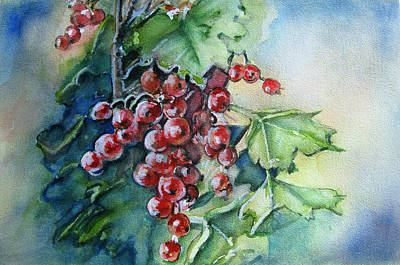 Painting -  It's The Berries by June Conte Pryor