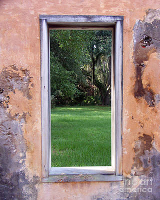 Photograph -  Jeckyll Island Window by Tom Romeo