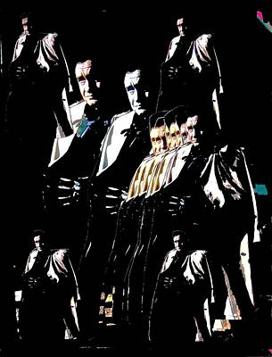 Art Print featuring the photograph  Johnny Cash Multiplied  by David Lee Guss