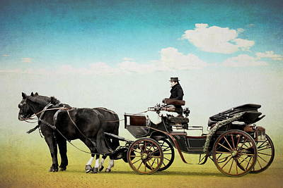 Carriage Mixed Media -  Journey Into The Past by Heike Hultsch