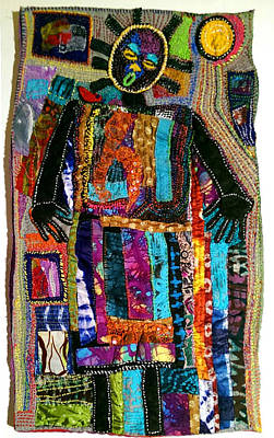 Tapestry - Textile -  Just Us Two by Gwendolyn Aqui-Brooks