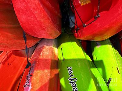 Kayaks Art Print by Michelle Meenawong