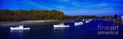Art Print featuring the photograph  Kennnepunkport Harbor  Maine  by Tom Jelen