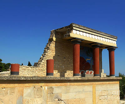 Greek Photograph -  Knossos Palace  by Cimorene Photography