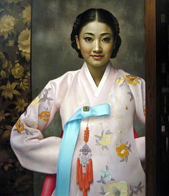 Korean Painting -  Korean Girls by Yoo Choong Yeul