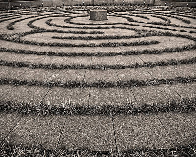 Photograph -  Labyrinth In Smale Riverfront Park In Cincinnati. by Phil Cardamone