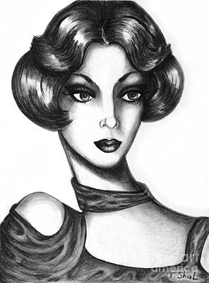 Drawing -  Lady by Tara  Shalton