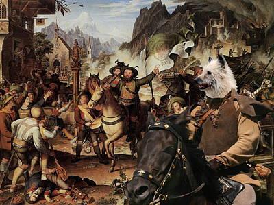 Painting -  Laekenois - Belgian Shepherd Art Canvas Print by Sandra Sij