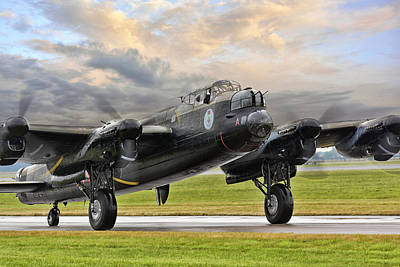 Bomber Command Photograph -  Lancaster Vera From Canada by Jason Green