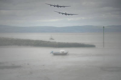 Canadian Heritage Photograph -  Lancasters In The Mist by Jason Green