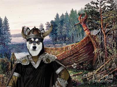 Painting -  Lapponian Herder - Lapinporokoira Art Canvas Print by Sandra Sij