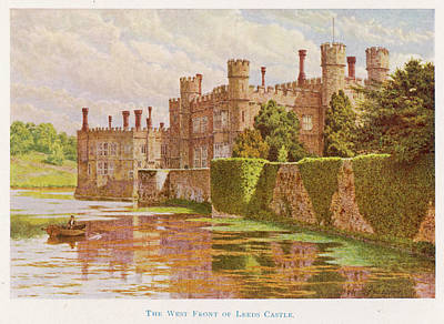Leeds Castle, Kent         Date 1907 Art Print by Mary Evans Picture Library