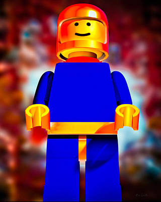 Lego Spaceman Art Print