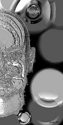 Human Brain Mixed Media -  Life Long Maintenance Phase by Sir Josef - Social Critic -  Maha Art