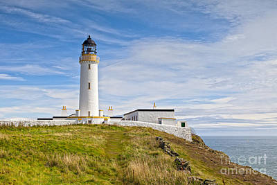 Photograph -  Lighthouse At Mull Of Galloway Scotland by Colin and Linda McKie