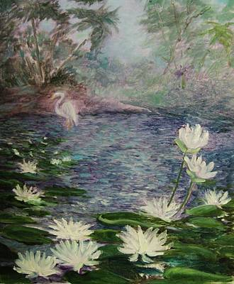 Painting -   Lilies  Of  The  Pond by Beth Arroyo