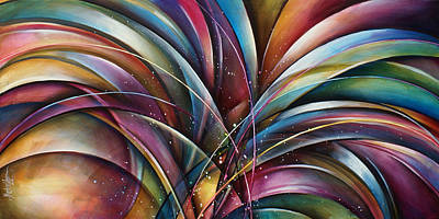 Abstract Movement Painting - ' Lilys Song 2' by Michael Lang