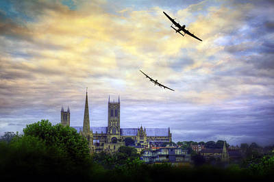 Canadian Heritage Photograph -  Lincoln Cathederal Flyby by Jason Green