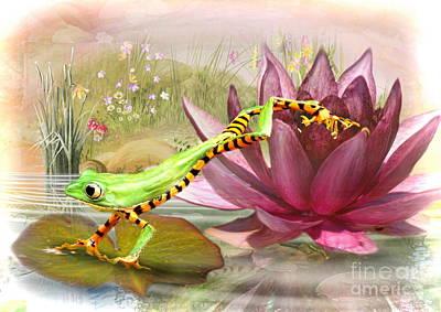 Digital Art -  Little Leap Frog by Trudi Simmonds