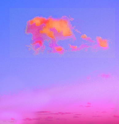 Digital Art -  Little Pink Clouds  by Expressionistart studio Priscilla Batzell