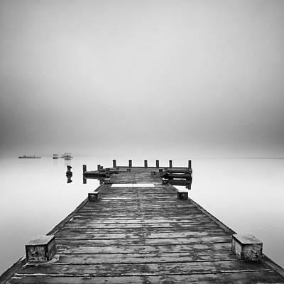 Photograph -   Loch Lomond Misty Pier by Grant Glendinning