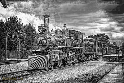 Photograph -  Locomotive Steam Black And White by LeeAnn McLaneGoetz McLaneGoetzStudioLLCcom