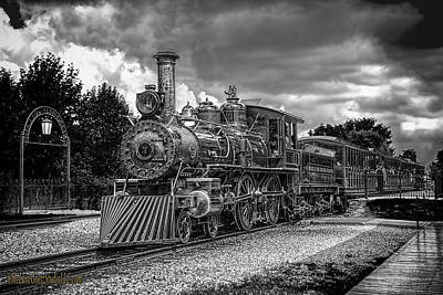 Photograph -  Locomotive Steam Black  White by LeeAnn McLaneGoetz McLaneGoetzStudioLLCcom