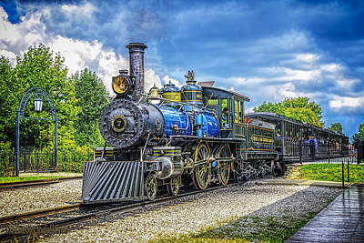 Greenfield Photograph -  Locomotive Steam by LeeAnn McLaneGoetz McLaneGoetzStudioLLCcom