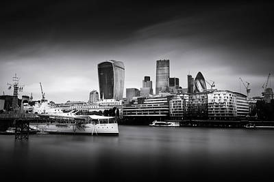 Gherkin Photograph -  London Skyline  Cityscape by Ian Hufton