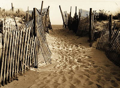 Photograph -  Long Beach Island In Nj 1977 - Sepia by Jacqueline M Lewis