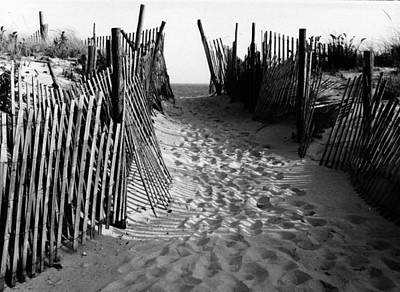 Photograph -  Long Beach Island Nj 1977 - Black/white by Jacqueline M Lewis