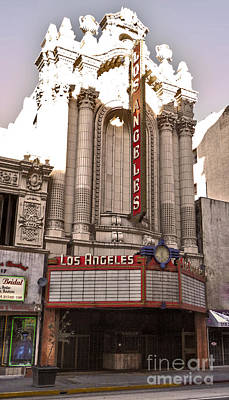 Los Angeles Theater Print by Gregory Dyer