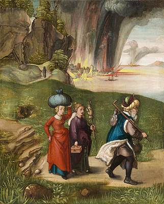 Torah Painting -  Lot And His Daughters by Albrecht Durer