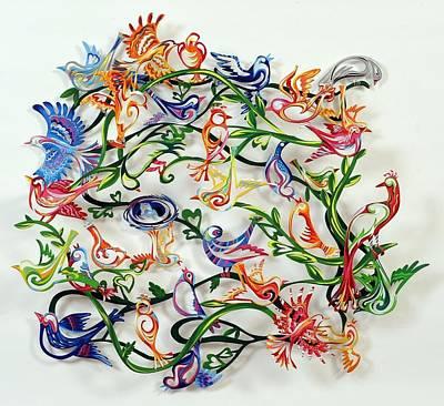 Gerstein David Sculpture -  Love Birds by Marina Zlochin