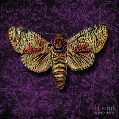 Black Background Mixed Media -  Love For Butterflies by Ramneek Narang
