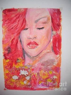 Rihanna Painting -  Love Rihanna by John Fitzsimon